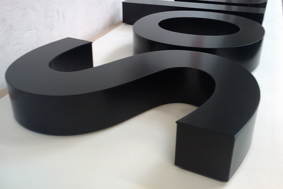 Aluminium Powder coated built up letters